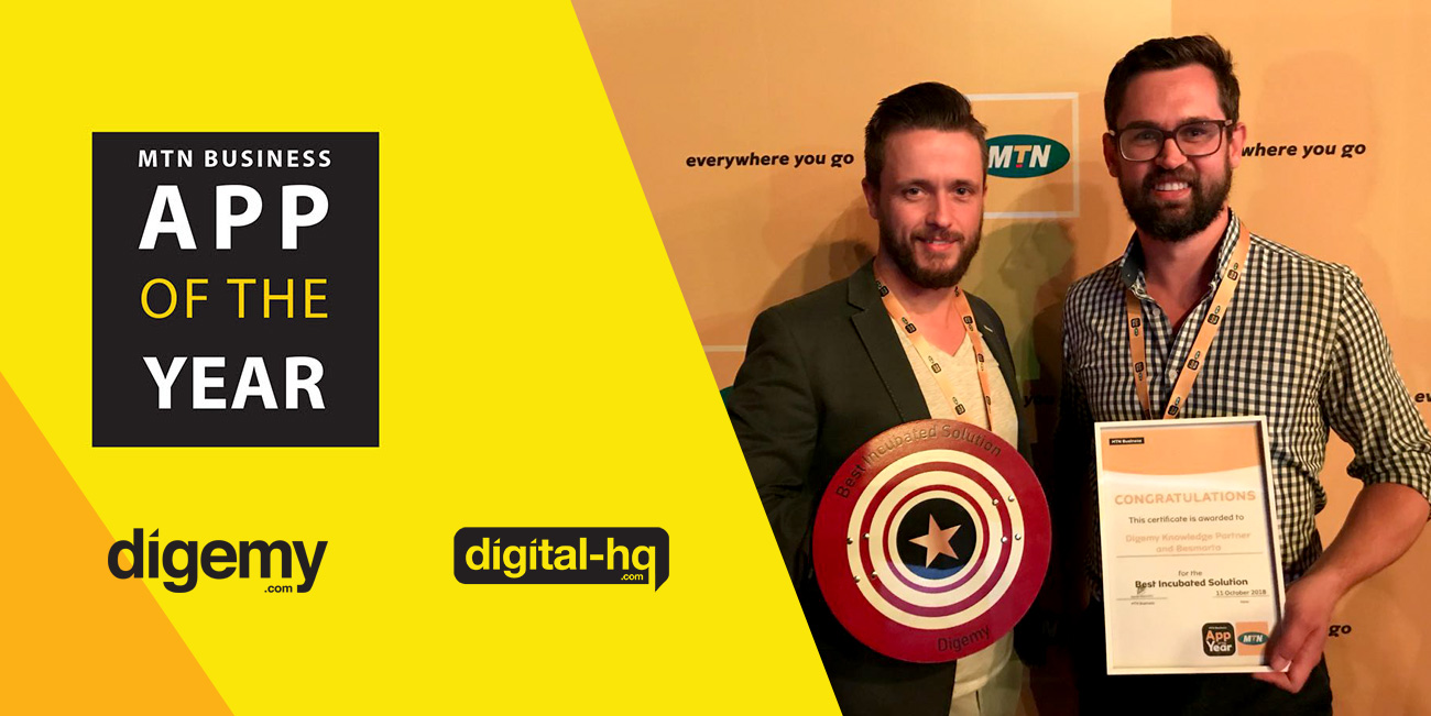 Digemy and Digital HQ at the MTN App of the Year Awards