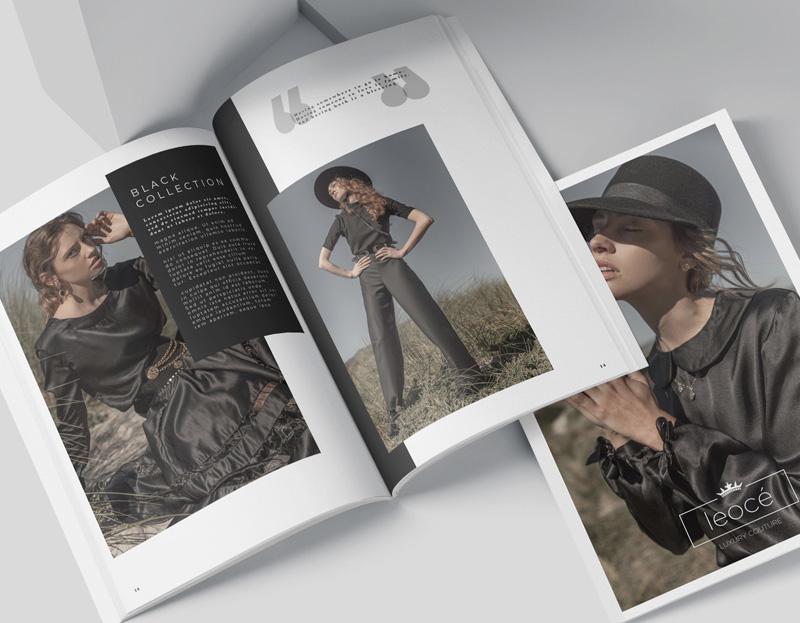 Leocé Luxury Couture Magazine Advert Design